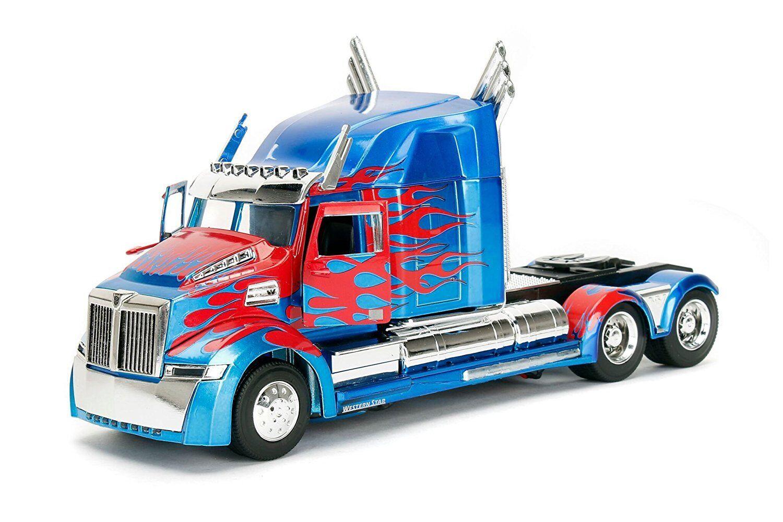 24 jada transformatoren 5 optimus prime western star 5700 xe ein diecast modell - auto