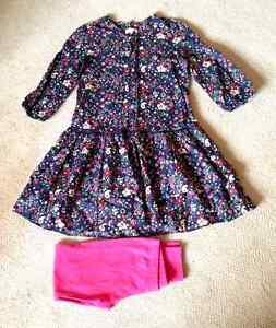M-amp-S-Indigo-Dress-with-Leggings-13-Yrs-Colour-Navy-blue-floral