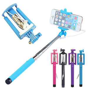 Extendable-Wired-Remote-Shutter-Handheld-Selfie-Stick-Monopod-for-iPhone-Samsung
