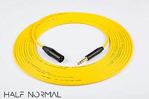 20/' Mogami 2534 Quad Balanced Cable Neutrik Gold XLR Male to XLR Female Black