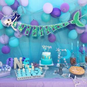 Mermaid-Joyeux-Anniversaire-Banniere-Mermaid-Parti-Banniere-for-Kids-Birthday-Party-Decor