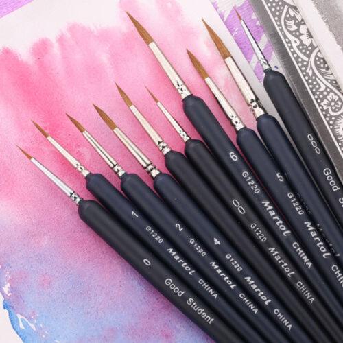Pinsel-Set Kunst 15 cm Wolfhook Fein Malen Line Spitz Öl Zeichnung Werkzeuge