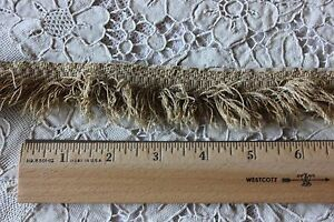 "Antique Faded Yellow 19thC Cotton Gimp-Braid~Passementarie ~3yds31""L X 1""W"