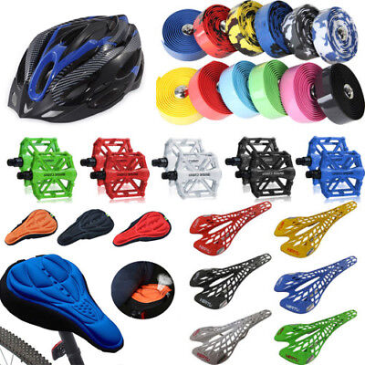 Road Cycling Mountain Biker Bicycle Helmets Seat Cushion Hats Pedals Handlebar