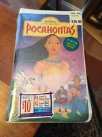 Disney Pocahontas Vhs Tape Video Movie 1996 Clamshell Masterpiece Kids Sealed