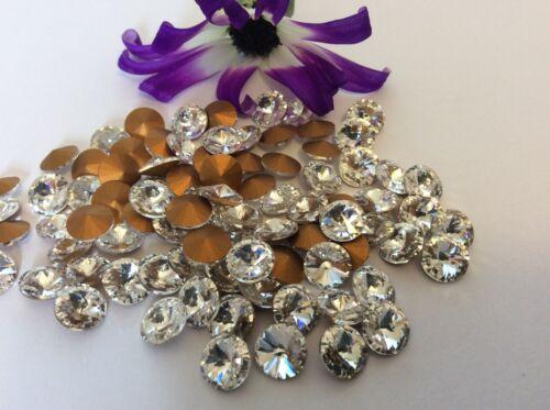 Rivoli PACK 12 Round CRAFT Post Free Rhinestones Preciosa Crystal 29ss 6.1mm
