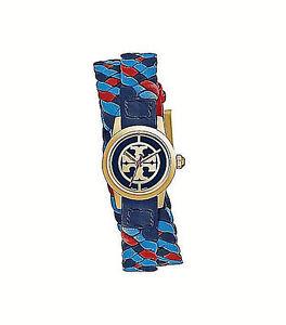 NWT-Tory-Burch-Women-039-s-Gold-Watch-Double-Wrap-Leather-MINI-REVA-TRB4033-295