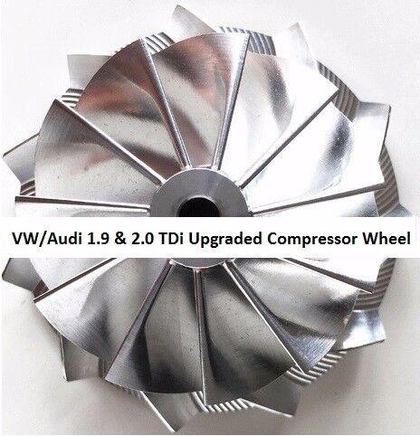 GT1749V - VW & Audi 1.9 & 2.0 TDi Upgraded Billet Compressor Wheel