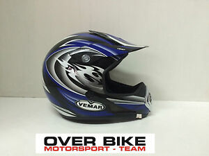 CASCO-OFF-ROAD-CROSS-MOTARD-ENDURO-QUAD-VEMAR-VPC-ALTAIR-DEVIL-BLU-TAGLIA-M