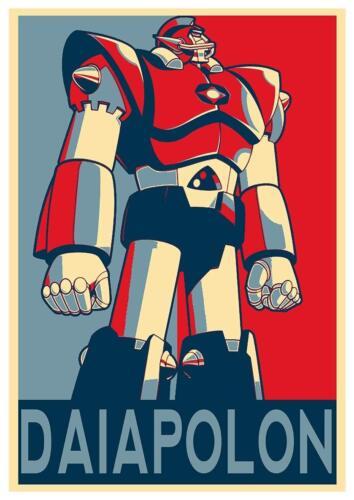 42x30 cm Robot UFO Daiapolon Formato A3 Poster Propaganda