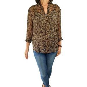 f759964d94d9 BURBERRY 4* S/M Fit vintage 100% silk animal print semi-sheer blouse ...