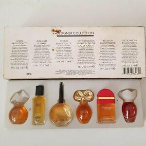 Vintage-1980s-Miniature-Perfumes-Set-Chloe-Narcisse-Scherrer-Cerutti-Taylor