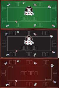 Tapis de table de poker noir / noir 1, noir 2, noir 3, vert vert 1, vert 2, vert 3, rouge 1 rouge, 2 rouge, 3 rouge