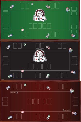 Pokertischauflage Poker Matte Pokertisch Poker Mat Texas Holdem Custom 160x80 cm