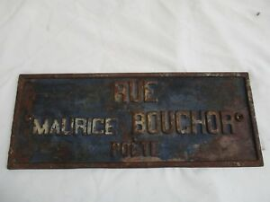 RARE-Grande-plaque-de-rue-en-fonte-ancienne-fin-1800-debut-1900