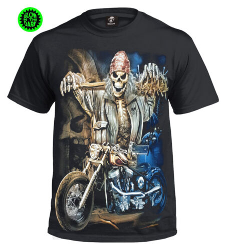 Punk Rider T-Shirt Homme//Biker//Skull//REAPER//Game over//ROCK//METAL//goth//enfants//Top
