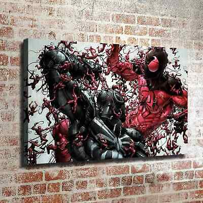 """12/""""x18/""""Spiderman family Picture HD Canvas prints Painting Home decor Wall art"""
