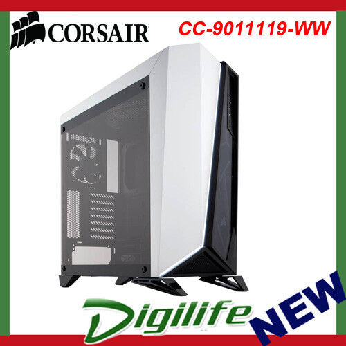Corsair Carbide SPEC-OMEGA Mid-Tower Tempered Glass Gaming Case - Black/White