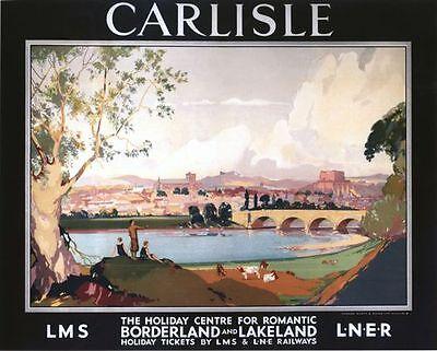 Vintage LNER LMS Carlisle Railway Poster A3 A2  Reprint