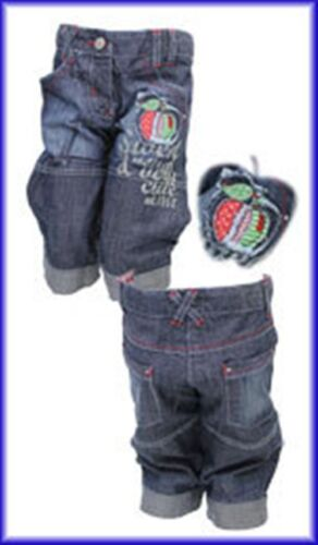 """3-4yr /& 4-5yr **NEW** Funky Diva /""""Cherry/"""" Cropped Jeans Ages 2-3yr"""