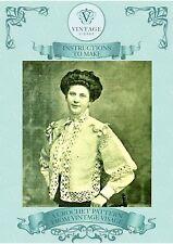 How to make a pretty Downton Abbey,Titanic era Jacket-vintage crochet pattern