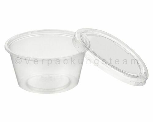 Dressingbecher Salat Dip Becher Sossenbecher 30ml transparent mit Deckel aus PP