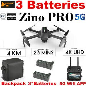 Hubsan Zino PRO 4.5KM FPV DRONE Combo Quadcopter--4K Camera 3Gimbal+3Batte