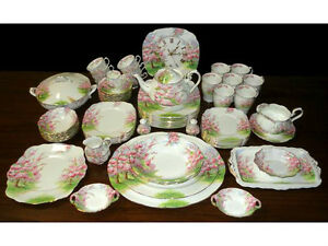 Image is loading ROYAL-ALBERT-039-BLOSSOM-TIME-039-TEA-SET-  sc 1 st  eBay & ROYAL ALBERT u0027 BLOSSOM TIME u0027 TEA SET AND TABLEWARE - ENGLISH BONE ...