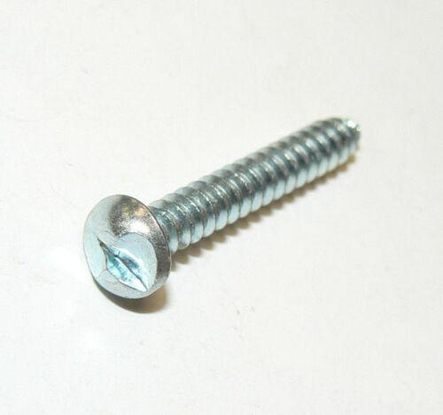 "#10 x 1 1//4/"" Round Head One-Way Security Sheet Metal Screws Zinc Plated 50 Pcs."