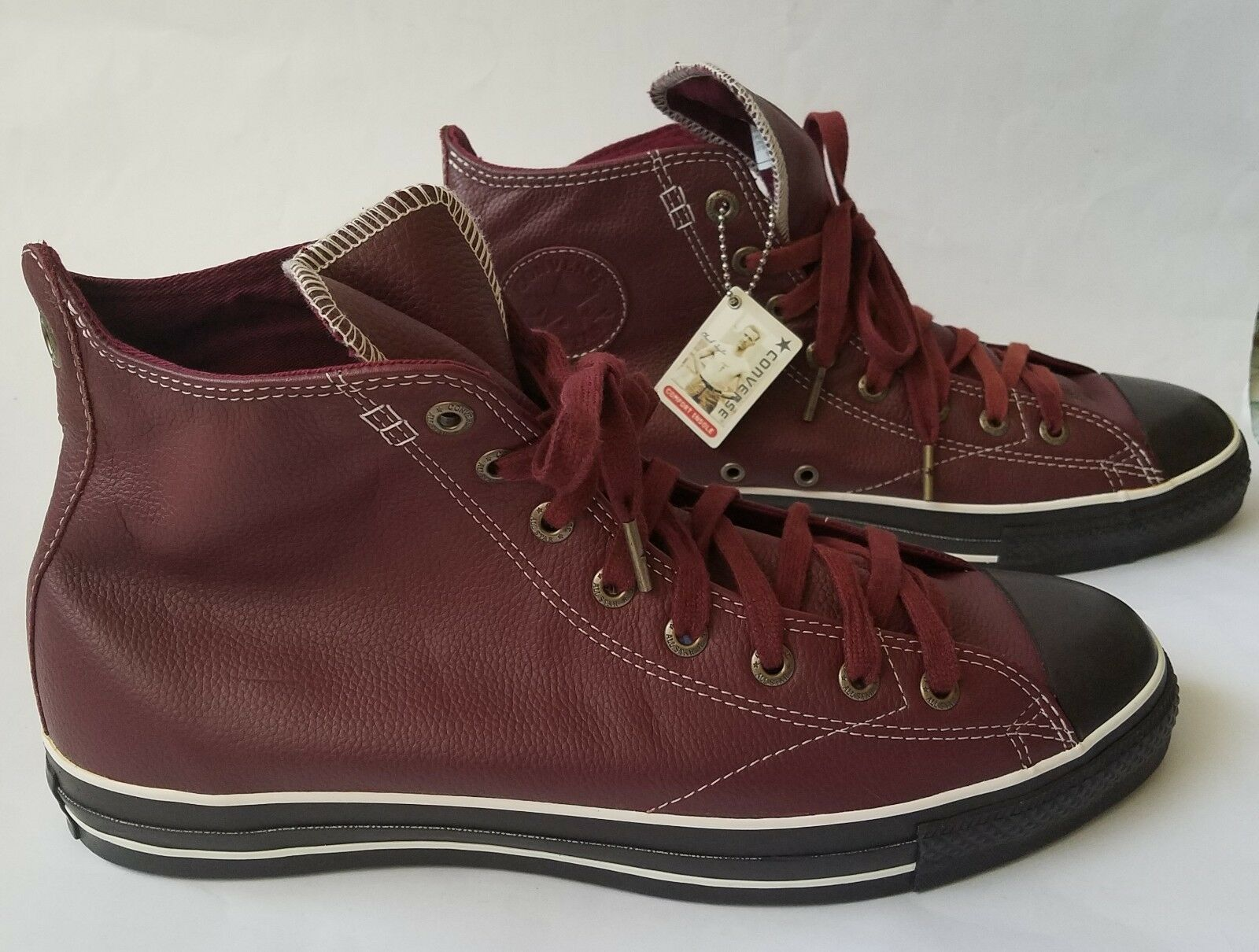 CONVERSE ALL STAR CHUCK TAYLOR European hi Hommes Chaussures Cranberry AJ855 taille 13 NEUF