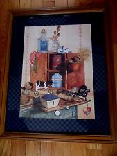 By Gail Roth vintage picture of a kitchen cover w blueberries rolling pin cow