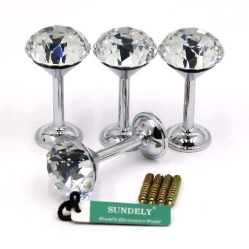 2//4pcs Brass Cut Glass Crystal Ball Curtain Tiebacks Hold backs Finials Ring