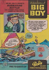 ADVENTURE OF BIG BOY PROMO COMIC BOOK #279 1980 BOB'S BIG BOY FAMILY RESTAURANT