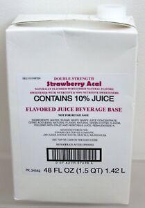 Starbucks Double Strength Strawberry Acai Juice Beverage Base 48 oz BBy. 06/2021
