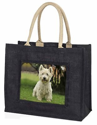 West Highland Terrier Hund große schwarze Einkaufstasche Weihnachtsgeschenk,