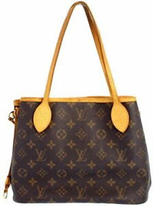 LOUIS-VUITTON-M40155-Neverfull-PM-Shoulder-Tote-Hand-Bag-Monogram-Canvas-Used