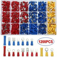 New Listing1200pcs Insulated Assorted Electrical Wiring Connectors Crimp Terminals Set Kits