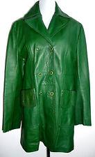 Vintage Lederjacke Leder Jacke Leather jacket Echtleder M  70s 70er Grün Green