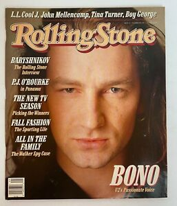 Rolling Stone Magazine  October 6 1987  U2's Bono Great Cover & Ads Rams NFL
