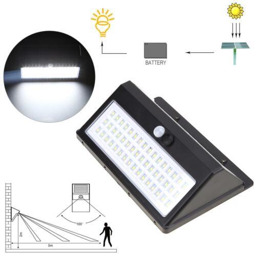 48LED Solar Powered Motion Sensor Light Outdoor Garden Security Wall Lights Lamp