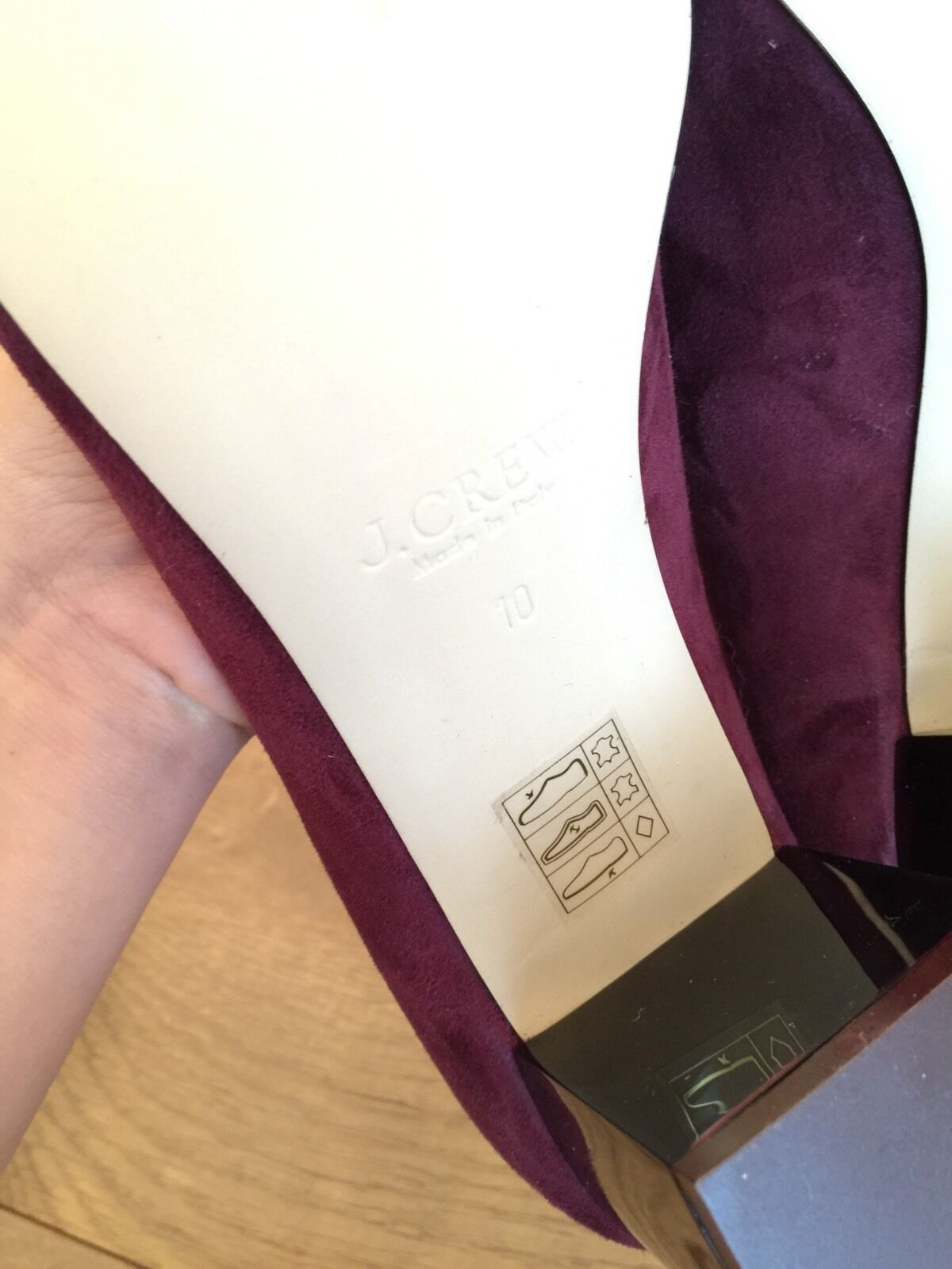 New JCrew Lucite Heels in Suede 10  218 218 218 vintage cabernet rot schuhe f5959 SOLDOUT 696c1a