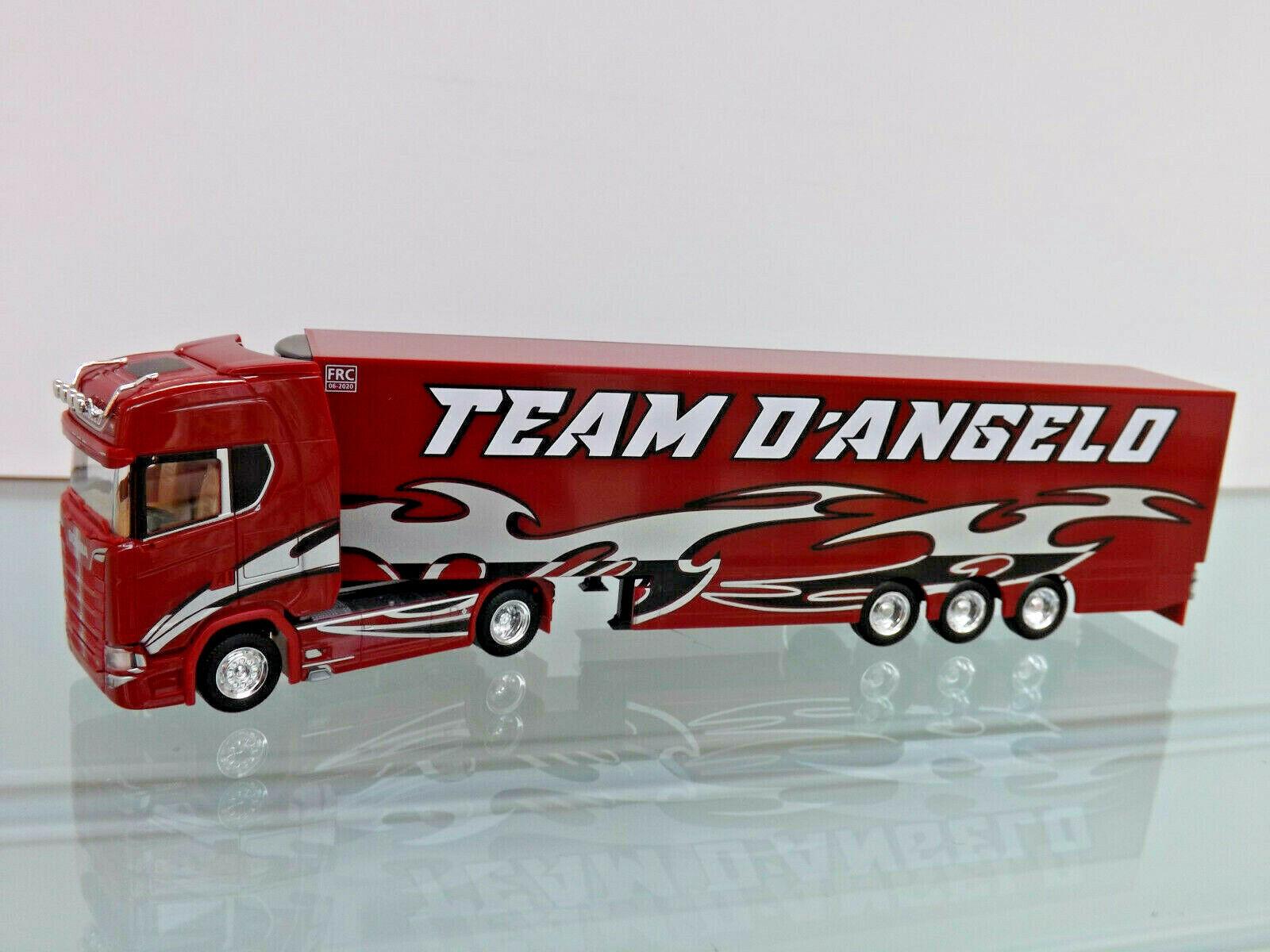 Herpa 309929 - 1 87 - Scania CS 20 HIGH ROOF FRIDGE SUITCASE-sz  Team d' Angelo  - NEW