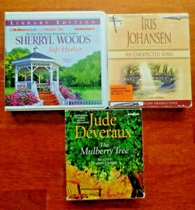Romance CD Audiobooks Lot 3~Jude Deveraux~Iris Johansen~Sherryl Woods