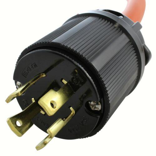 30 Amp Flexible Welder Adapter NEMA L15-30P to NEMA 6-50R by AC WORKS®