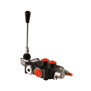 1-Bank-Hydraulic-Double-Acting-Lever-Spool-Valve-1-2-3-4-BSP-Ported-90lpm