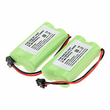 2× 1400mAh 2.4v Home Use Cordless Phone Battery For Uniden BT-1007 BT1007 BT1015