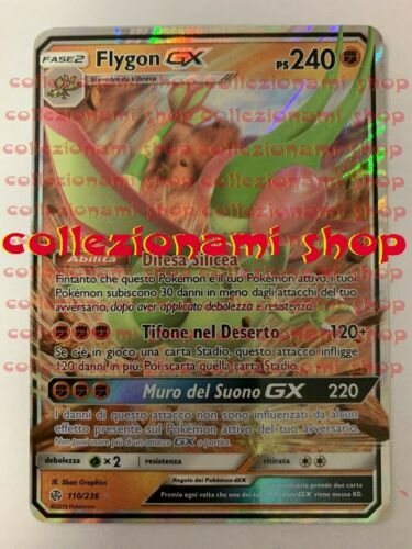CARTA IN ITALIANO 110//236 Flygon GX ECLISSI COSMICA COLLEZIONAMI SHOP