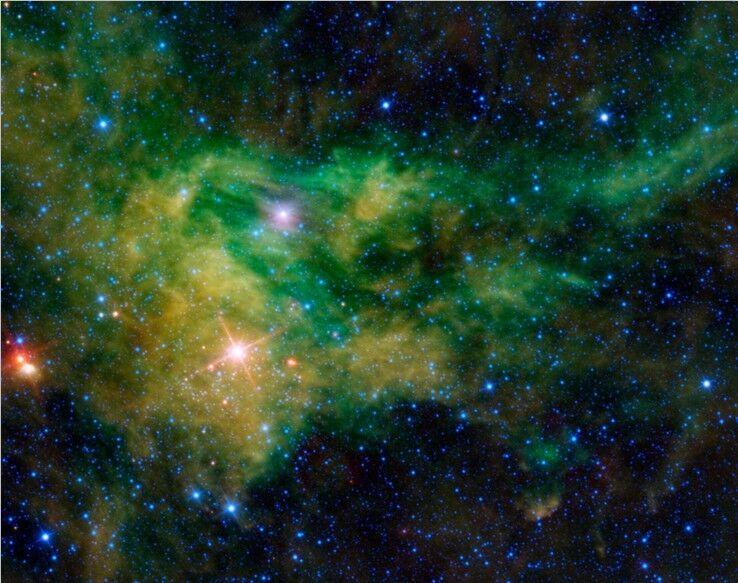 3D Grün Star Univers Fototapeten Wandbild Fototapete Bild Tapete Familie Kinder