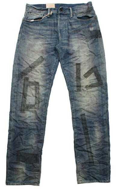 POLO RALPH LAUREN DENIM AND & SUPPLY JEANS DISTRESSED STRAIGHT LEG FIT