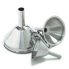 KITCHEN FUNNEL SET OF 3 FUNNELS STAINLESS STEEL SMALL MEDIUM LARGE NEW